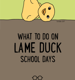 What to Do on Lame Duck School Days   Cult of Pedagogy [ 1024 x 773 Pixel ]