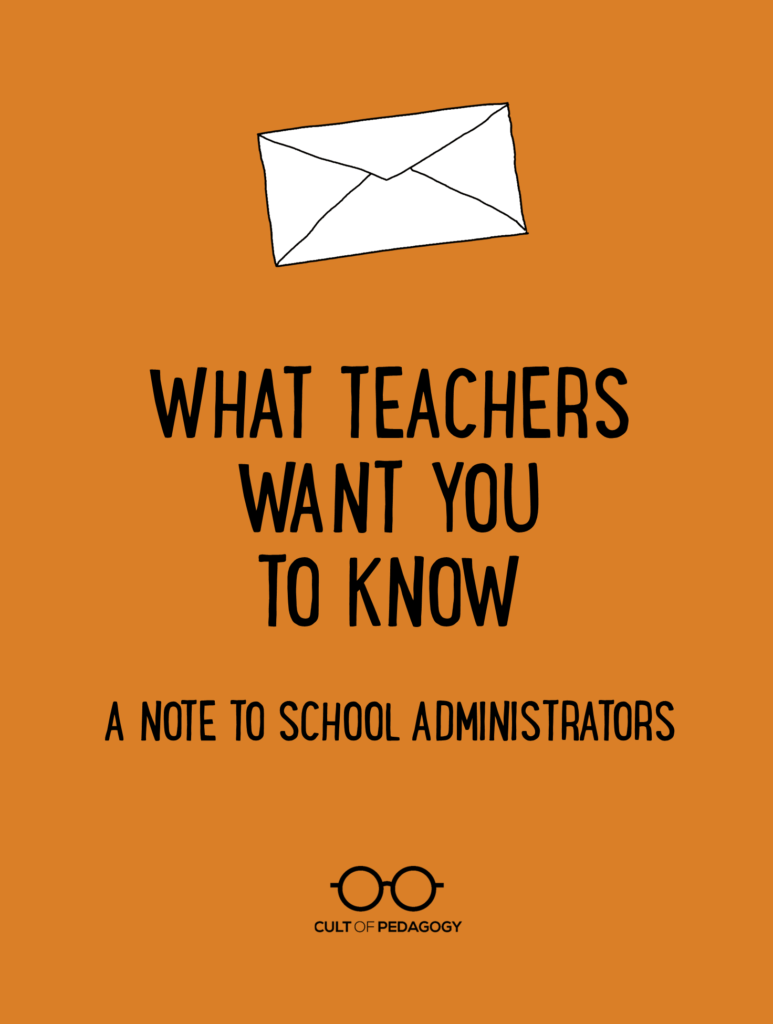 Christian School Administrator Cover Letter What Teachers Want You To Know A Note To School Administrators