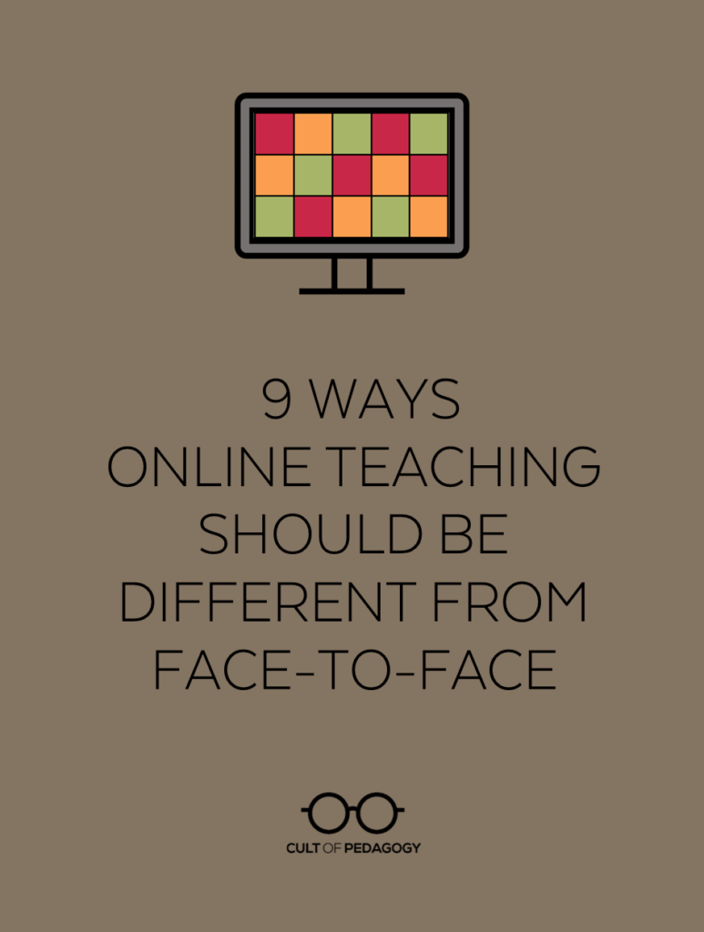 medium resolution of 9 Ways Online Teaching Should be Different from Face-to-Face   Cult of  Pedagogy