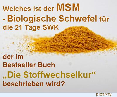 MSM für die Stoffwechselkur - Biologischer Schwefel für die 21 Tage SWK