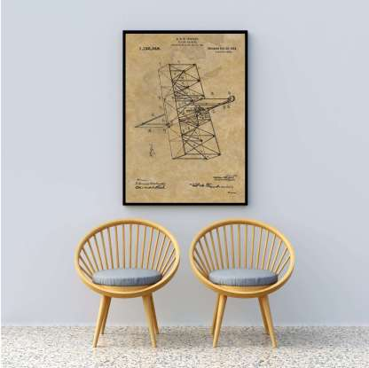 wrigth brothers airplane patent print