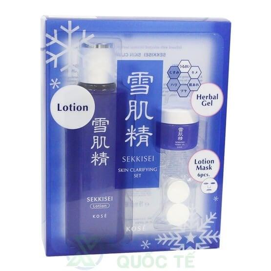 Bộ Kit Lotion + Herbal Gel + Mask SEKKISEI Skin Clarify Kit