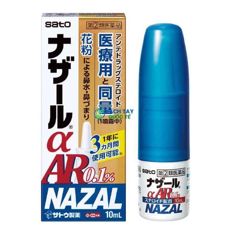 Thuốc xịt mũi Nazal Ar Sato trị viêm mũi dị ứng Nhật Bản