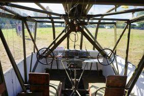 Cabine de um planador britânico usado no ataque à ponte Pégaso