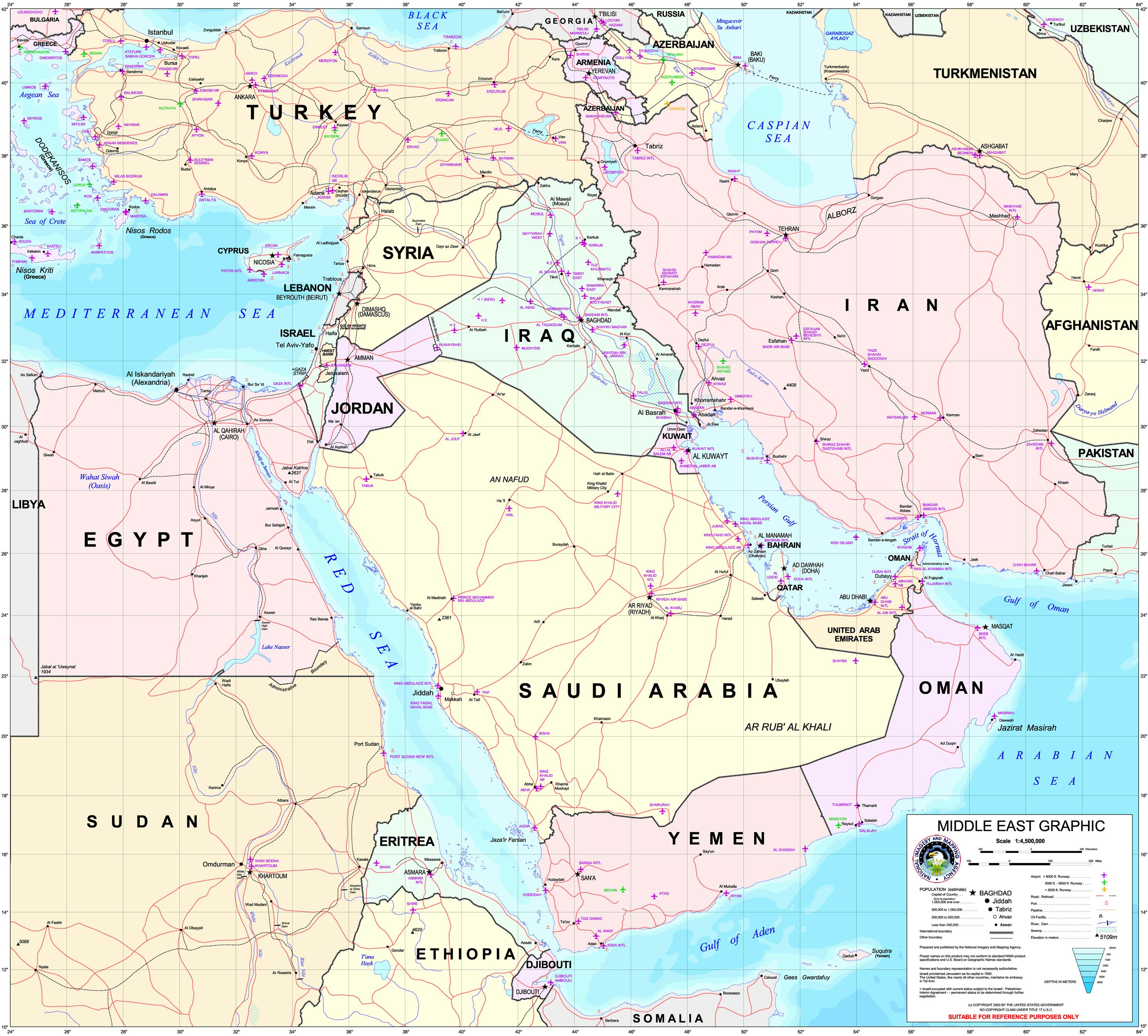 Map Of Middle East Quiz