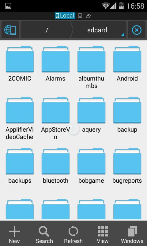 giao dien ES File Explorer File Manager