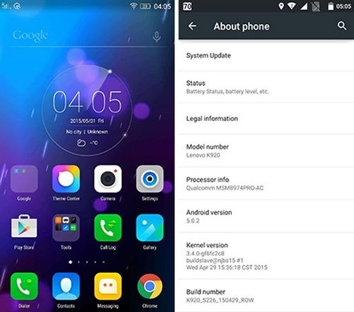 Vibe Z2 Pro được cập nhật lên Android 5.0 Lollipop