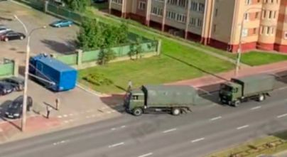 В столицу Беларуси стягивают войска и спецтехнику