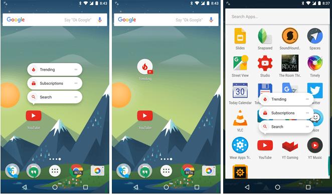 Делаем меню быстрого доступа в Xamarin для Android 7.1