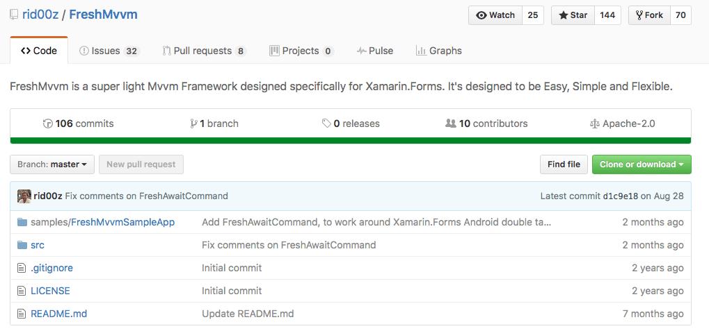 Использование FreshMvvm для новичков в Xamarin.Forms