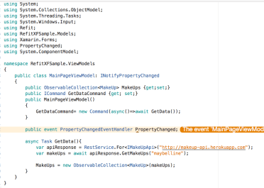 Consuming a RESTful Web Service in Xamarin Forms using Refit
