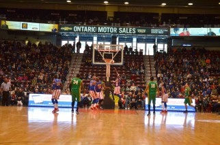 OSHAWA (02/15/2015) - Harlem Globetrotters go up against their nemesis team the Washington Generals at the GM Centre.
