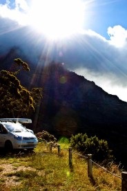 I love this photo... It's got a mountain (Table Mountain), clouds, sunburst, lens flare... Don't ask me why!!!