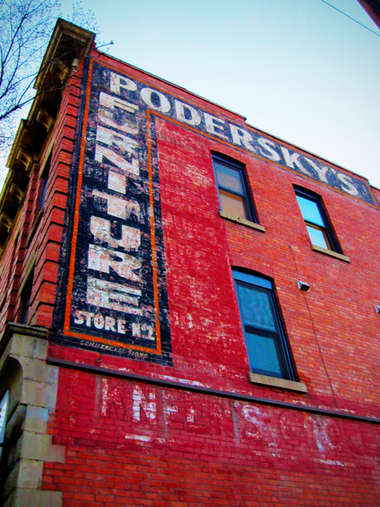 Crazy about the old painted signs on many buildings...