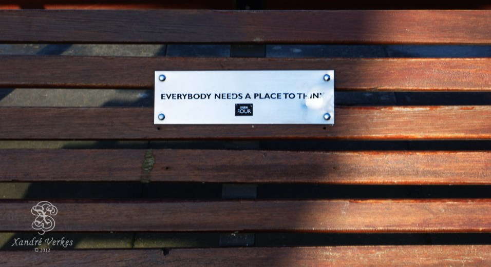 """ Everybody needs a place to think... """