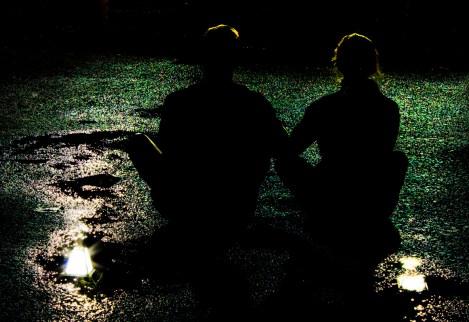 Me & HWTHB sitting on the wet road!!!