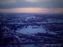 """The view from our first """"home"""" in Edmonton..."""