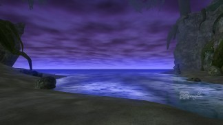 The Tranquil Sea at night