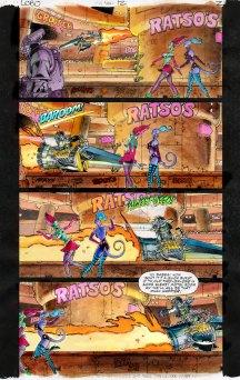 Lobo comic page colored by Xan Blackburn