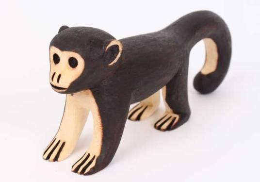 Guarani Brazilian Indigenous Tribe Carved Monkey