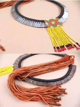 Kayapo Indigenous Shell Necklace, Xingu, Brazil