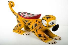 Ticuna Carved Monkey Amazonian Art