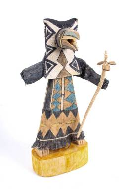 A unique doll made from the ancient bark of the Yanchama tree which is hand painted with geometric symbology using natural vegetable dyes.