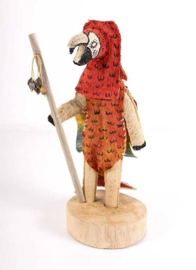 The Ticuna use depictions of animals (jaguars, turtles, snakes, butterflies, tapirs, caymans and various species of birds and fishes) for the masks they wear during rituals. These animals are used as a social function of specifying the different clans within the Ticuna people.