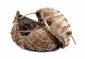 Xavante Lid Basket, Brazilian Tribal Art