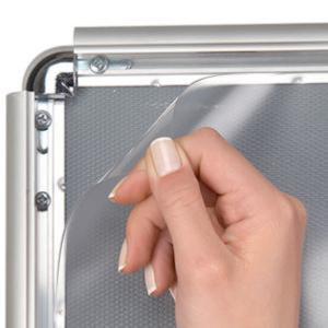 κορνίζα αλουμινίου με προσταυτική διαφάνεια snap frame