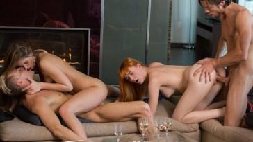 X-Art Caprice & Anny Aurora in 4Way in 4k 15