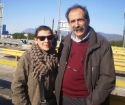 2013/01/06: Μ. Κανελλοπουλου και Β. Χατζηλαμπρου στην κινητοποιηση του «Διοδια STOP» στο σταθμο του Ριου