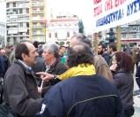 2013/02/15: Απο τη συγκεντρωση των αγροτικων μπλοκων στο κεντρο της Πατρας