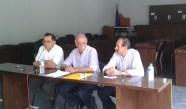2014/09/21: Απο αριστερα: Δ. Δουρος, Δ. Βιτσας, Β. Χατζηλαμπρου στην εκδηλωση για το προγραμμα του ΣΥΡΙΖΑ στη Ναυπακτο