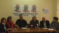2014/11/03: Με τους βουλευτες Θεσσαλονικης (απο αριστερα) Λ. Αμμανατιδου, Δ. Χαραλαμπιδου και Γ. Αμανατιδη στη συνεντευξη Τυπου για την ΕΛΒΟ