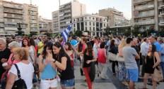 2015/06/30: Απο τη μεγαλη συγκεντρωση υπερ του ΟΧΙ στο δημοψηφισμα που πραγματοποιηθηκε στην Πατρα