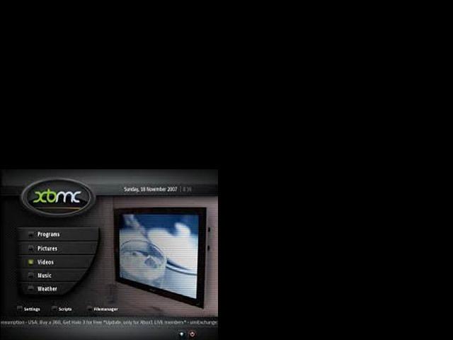 XBMC quarter of the screen