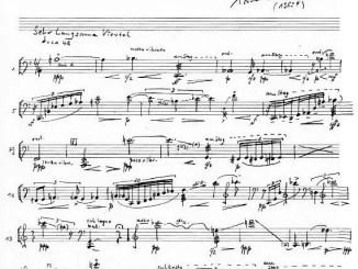 Partiturseite: PAINTINGS PIA M. Musik für Violoncello solo - xpt 121 - von Xaver Paul Thoma