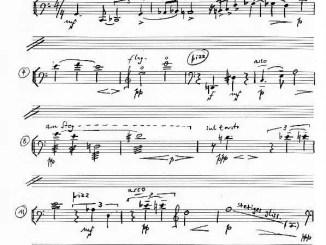 Partiturseite: IN MEMORIAM H. K. für Violoncello solo von Xaver Paul Thoma