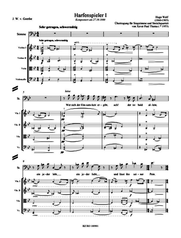 Partiturseite: xpt164 Wolf Lieder