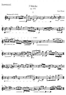 xpt 019. DREI STÜCKE für Trompete solo