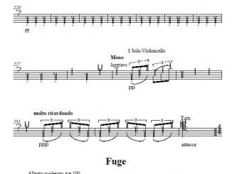 Partiturseite xpt 2. VARIATIONEN UND FUGE opus 1 von Xaver Paul Thoma