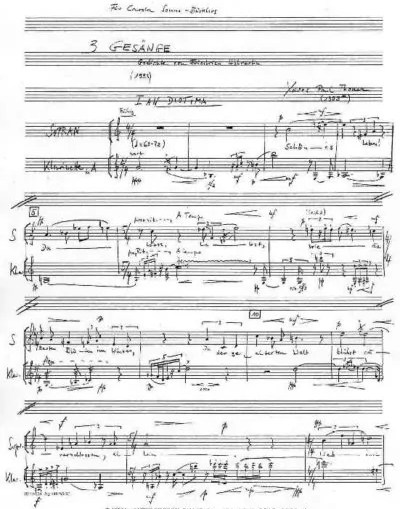 xpt 088. Hölderlin für Mezzosopran und Klarinette