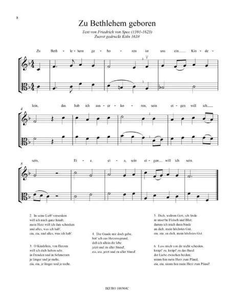 Partiturseite: xpt 159. Weihnachtslieder