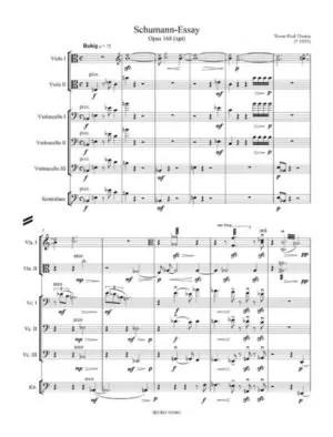 Partiturseite: xpt 168 Schumann-Essay für 2 Violen, 3 Violoncelli, 1 Kontrabass
