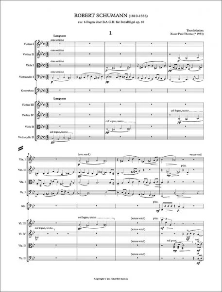 Partiturseite: xpt 176 - Schumann/Thoma - 6 Fugen