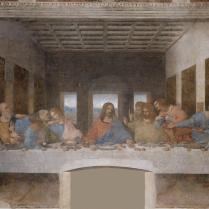 Los 12 apóstoles Esta pintura mural de Leonardo da Vinci nombrada Patrimonio de la Humanidad por la Unesco en 1980 muestra a los 12 apóstoles en la Última Cena. Entre ellos se encuentra el amigo dilecto de Jesús, Judas Iscariote, que según los textos bíblicos lo vendió por 30 monedas de plata, señalándolo con un beso. Más tarde, enloquecido por el remordimiento, se ahorcó