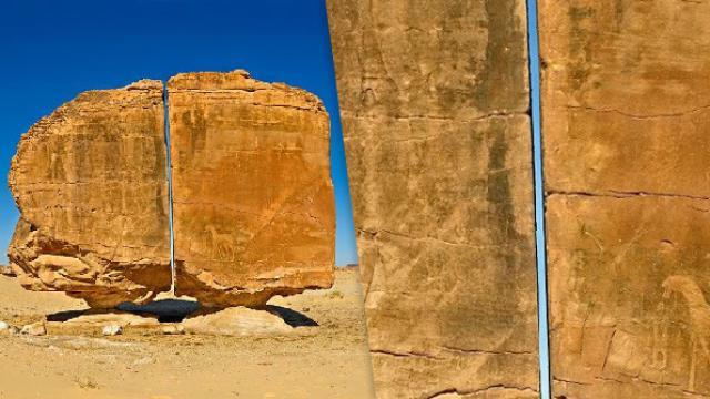 ¿Un láser en la antigüedad? La roca partida al medio con increíble precisión