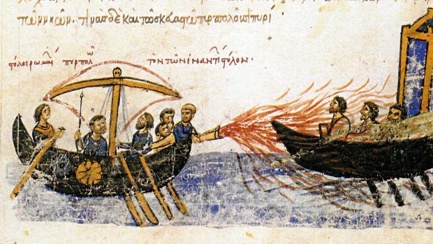 El fuego griego, la misteriosa sustancia empleada por los bizantinos para frenar los ataques árabes