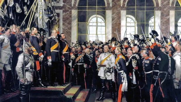 Guillermo I de Prusia proclama el Imperio alemán en el Palacio de Versalles, 1877. - Museen Nord